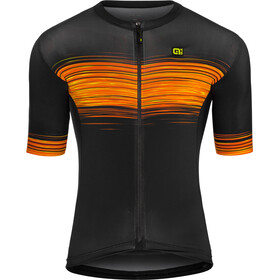 Alé Cycling Solid Start Maillot manga corta Hombre, black flou yellow